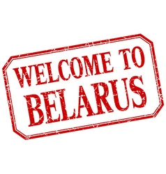 Belarus - welcome red vintage isolated label vector