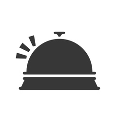 Bell icon object of hotel design graphic vector
