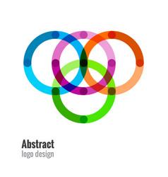 abstract circles icon vector image vector image