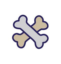 bones dangerous alert symbol of death vector image
