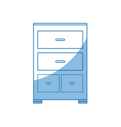 Cabinet document file folder office vector