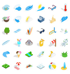 Clean water icons set isometric style vector