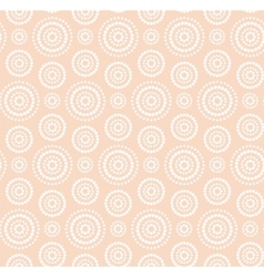 Dots circles white pattern on warm beige vector