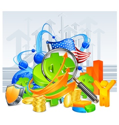 economic development background vector image vector image