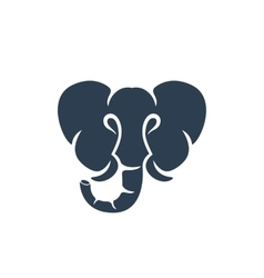 Elephant logo on white background - stock vector image vector image