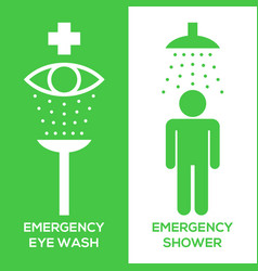 Emergency eye wash and emergency shower vector