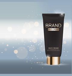 Face cream bottle tube template for ads or vector