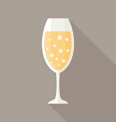 Glass of champagne vector