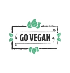 Go vegan organic food icon vector