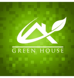 Green house roof icon vector