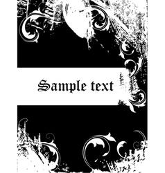 Grunge backdrop vector image vector image