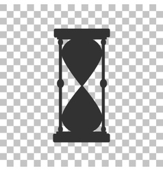 Hourglass sign dark gray icon on vector