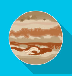 Jupiter icon in flat style isolated on white vector