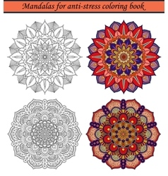 Mandalas for Anti-Stress Coloring Book 2 vector image vector image