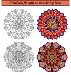 Mandalas for anti-stress coloring book 2 vector