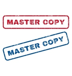 Master Copy Rubber Stamps vector image