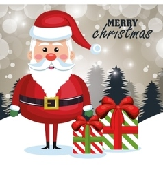 merry christmas santa claus cartoon greeting vector image