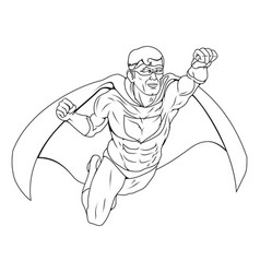 Monochrome superhero vector