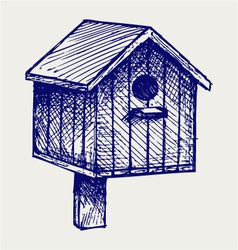 Nest box birdhouse vector
