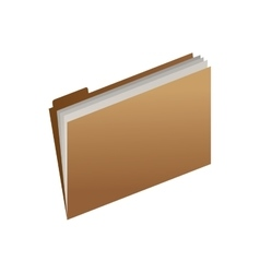 Office open folder with sheets vector