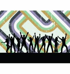 retro grunge party vector image vector image