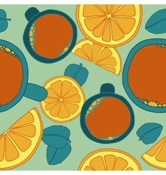 Seamless Pattern with Tea vector image