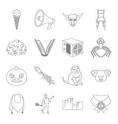 Sports animal education and other web icon in vector