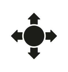 The arrow icon search symbol flat vector