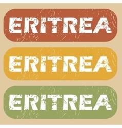 Vintage eritrea stamp set vector