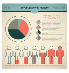 Vintage infographic set vector