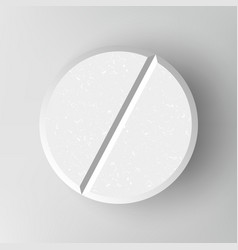 White 3d medical pill or drug vector