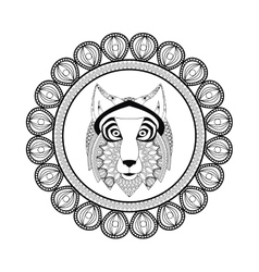 wolf icon Animal and Ornamental predator design vector image