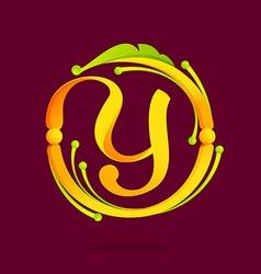 Y letter monogram design elements vector