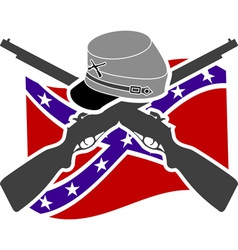 American civil war confederacy vector