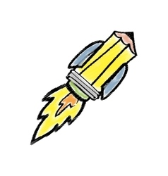 Pencil draw utensil vector