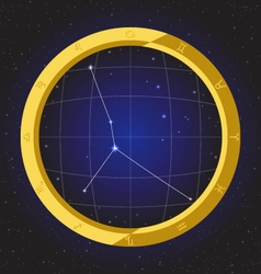 Cancer star horoscope zodiac in fish eye vector