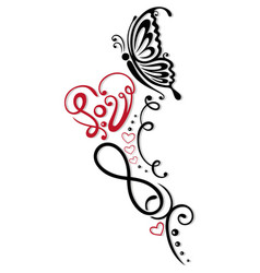 infinity heart butterfly vector image
