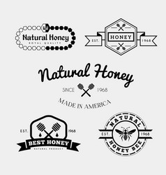 Bee label and badge vector
