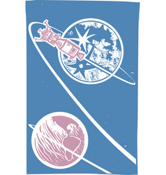 Apollo and Lem vector image