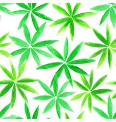Beautifu watercolorl floral seamless pattern vector image