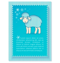 Christmas layered blue card vector