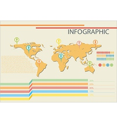 Infographics of a map vector