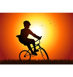 Riding a bicycle vector