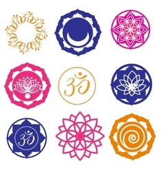 Yoga labels and icons vector