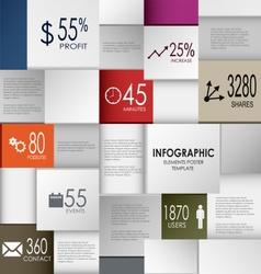 Abstract info graphic square element poster vector