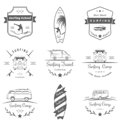 Set of surf logo and badges vector