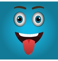 Funny emoticon cartoon design vector