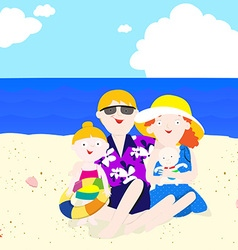 Family in summer vector