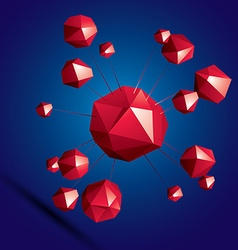 Digital 3d abstraction geometric polygonal element vector