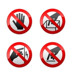 Set prohibited signs - not touch vector